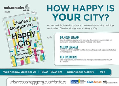 The Urban Reader Book Club Reads Happy City